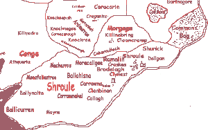 Petty's Map of Shrule - 17th century